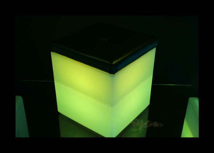 Rechargeable Plastic LED Illuminated Furniture Square Led Colour Changing Ice Bucket