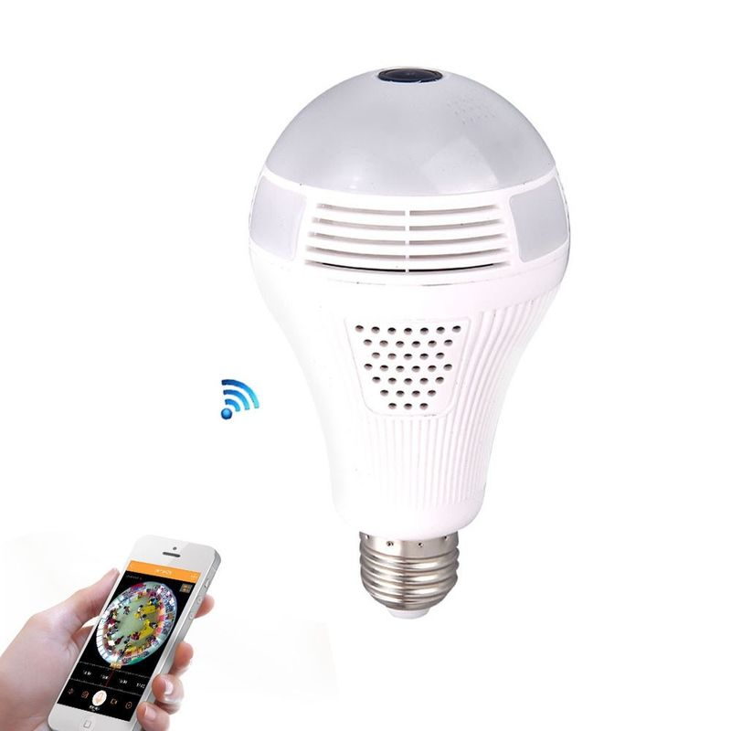 1.30MP 360 Panoramin Wifi Camera Light Bulb Smart Led Light Bulbs For Floor Lamps
